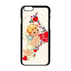Cupid   Vintage Apple Iphone 6/6s Black Enamel Case by Valentinaart
