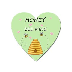 Bee Mine Valentines Day Heart Magnet by Valentinaart