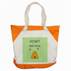 Bee Mine Valentines Day Accent Tote Bag by Valentinaart