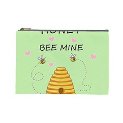 Bee Mine Valentines Day Cosmetic Bag (large)  by Valentinaart