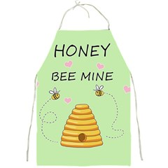 Bee Mine Valentines Day Full Print Aprons by Valentinaart