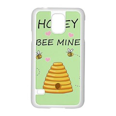 Bee Mine Valentines Day Samsung Galaxy S5 Case (white) by Valentinaart