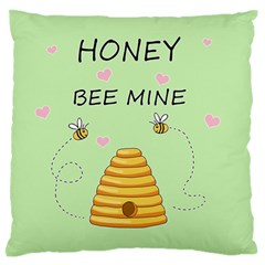 Bee Mine Valentines Day Standard Flano Cushion Case (one Side) by Valentinaart