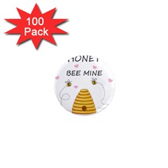 Bee Mine Valentines Day 1  Mini Magnets (100 Pack)  by Valentinaart