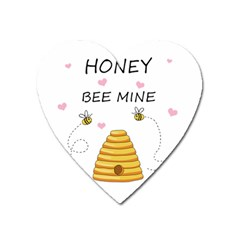 Bee Mine Valentines Day Heart Magnet by Valentinaart