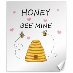 Bee Mine Valentines Day Canvas 8  X 10  by Valentinaart