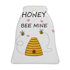 Bee Mine Valentines Day Bell Ornament (two Sides) by Valentinaart