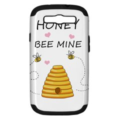 Bee Mine Valentines Day Samsung Galaxy S Iii Hardshell Case (pc+silicone) by Valentinaart