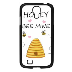Bee Mine Valentines Day Samsung Galaxy S4 I9500/ I9505 Case (black) by Valentinaart
