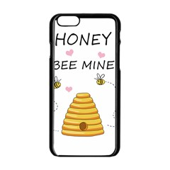 Bee Mine Valentines Day Apple Iphone 6/6s Black Enamel Case by Valentinaart