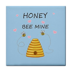 Bee Mine Valentines Day Tile Coasters by Valentinaart