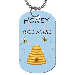 Bee Mine Valentines Day Dog Tag (one Side) by Valentinaart