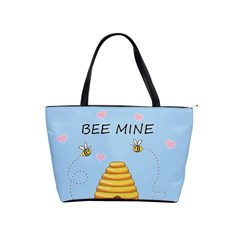 Bee Mine Valentines Day Shoulder Handbags by Valentinaart