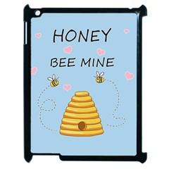 Bee Mine Valentines Day Apple Ipad 2 Case (black) by Valentinaart