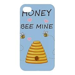 Bee Mine Valentines Day Apple Iphone 4/4s Premium Hardshell Case by Valentinaart