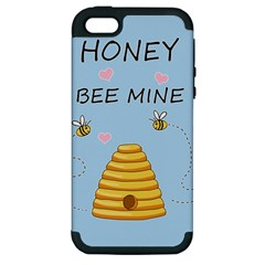 Bee Mine Valentines Day Apple Iphone 5 Hardshell Case (pc+silicone) by Valentinaart
