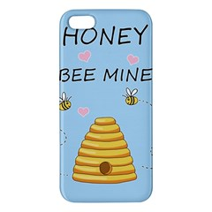 Bee Mine Valentines Day Apple Iphone 5 Premium Hardshell Case by Valentinaart