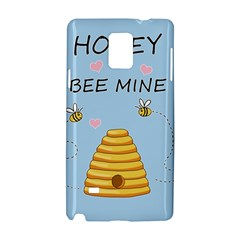 Bee Mine Valentines Day Samsung Galaxy Note 4 Hardshell Case by Valentinaart