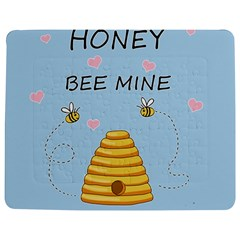 Bee Mine Valentines Day Jigsaw Puzzle Photo Stand (rectangular) by Valentinaart
