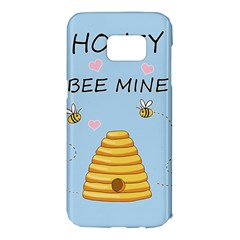 Bee Mine Valentines Day Samsung Galaxy S7 Edge Hardshell Case