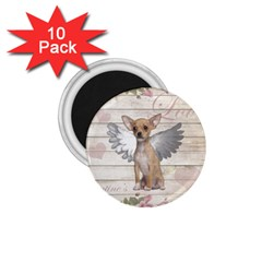 Vintage Chihuahua   Valentines Day 1 75  Magnets (10 Pack)  by Valentinaart