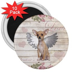 Vintage Chihuahua   Valentines Day 3  Magnets (10 Pack)  by Valentinaart