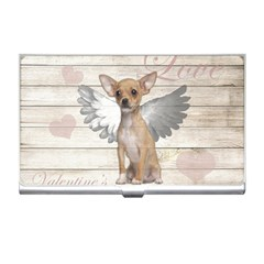 Vintage Chihuahua   Valentines Day Business Card Holders by Valentinaart