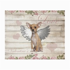 Vintage Chihuahua   Valentines Day Small Glasses Cloth (2 Side) by Valentinaart
