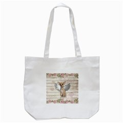Vintage Chihuahua   Valentines Day Tote Bag (white) by Valentinaart