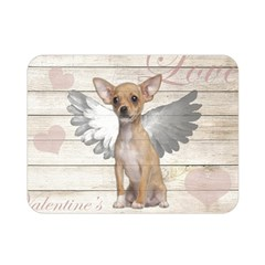 Vintage Chihuahua   Valentines Day Double Sided Flano Blanket (mini)  by Valentinaart