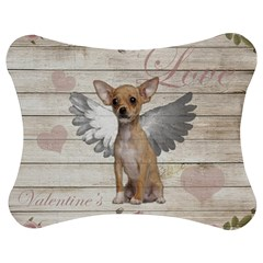 Vintage Chihuahua   Valentines Day Jigsaw Puzzle Photo Stand (bow) by Valentinaart