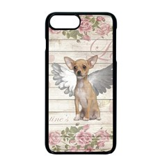 Vintage Chihuahua   Valentines Day Apple Iphone 7 Plus Seamless Case (black) by Valentinaart