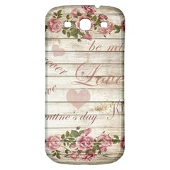 Vintage Chihuahua   Valentines Day Samsung Galaxy S3 S Iii Classic Hardshell Back Case by Valentinaart
