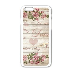 Vintage Chihuahua   Valentines Day Apple Iphone 6/6s White Enamel Case by Valentinaart