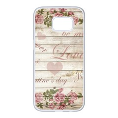 Vintage Chihuahua   Valentines Day Samsung Galaxy S7 Edge White Seamless Case by Valentinaart