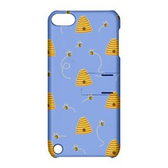 Bee Pattern Apple Ipod Touch 5 Hardshell Case With Stand by Valentinaart