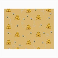 Bee Pattern Small Glasses Cloth (2 Side) by Valentinaart