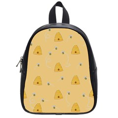 Bee Pattern School Bag (small) by Valentinaart
