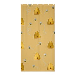 Bee Pattern Shower Curtain 36  X 72  (stall)  by Valentinaart