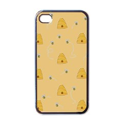 Bee Pattern Apple Iphone 4 Case (black) by Valentinaart