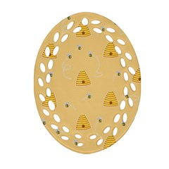 Bee Pattern Ornament (oval Filigree) by Valentinaart