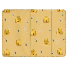 Bee Pattern Samsung Galaxy Tab 7  P1000 Flip Case by Valentinaart