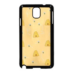 Bee Pattern Samsung Galaxy Note 3 Neo Hardshell Case (black) by Valentinaart