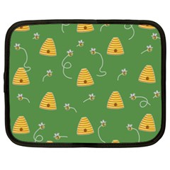 Bee Pattern Netbook Case (xxl)  by Valentinaart