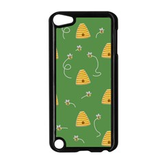 Bee Pattern Apple Ipod Touch 5 Case (black) by Valentinaart