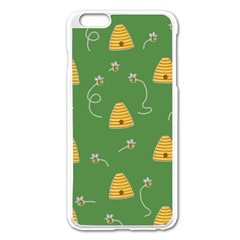 Bee Pattern Apple Iphone 6 Plus/6s Plus Enamel White Case