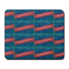 Valentine Day Pattern Large Mousepads by dflcprints