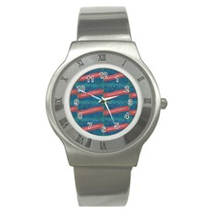 Valentine Day Pattern Stainless Steel Watch by dflcprints