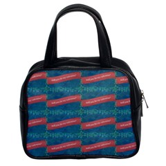 Valentine Day Pattern Classic Handbags (2 Sides) by dflcprints