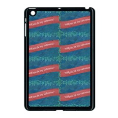 Valentine Day Pattern Apple Ipad Mini Case (black) by dflcprints
